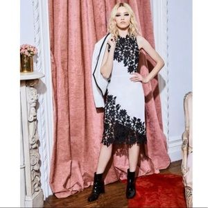 Alice & Olivia Marty Guipure Lace Cocktail Dress